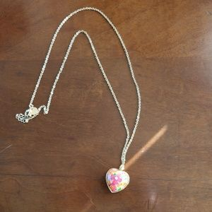 Vera Bradley Floral Heart Necklace